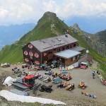 Blick zur Wormser Hütte im Hintergrund Kapelljoch