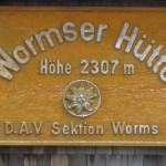 Wormser Hütte Tafel