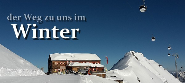 der Weg zu uns im Winter